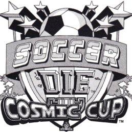 SoccerDie Black & White Logo